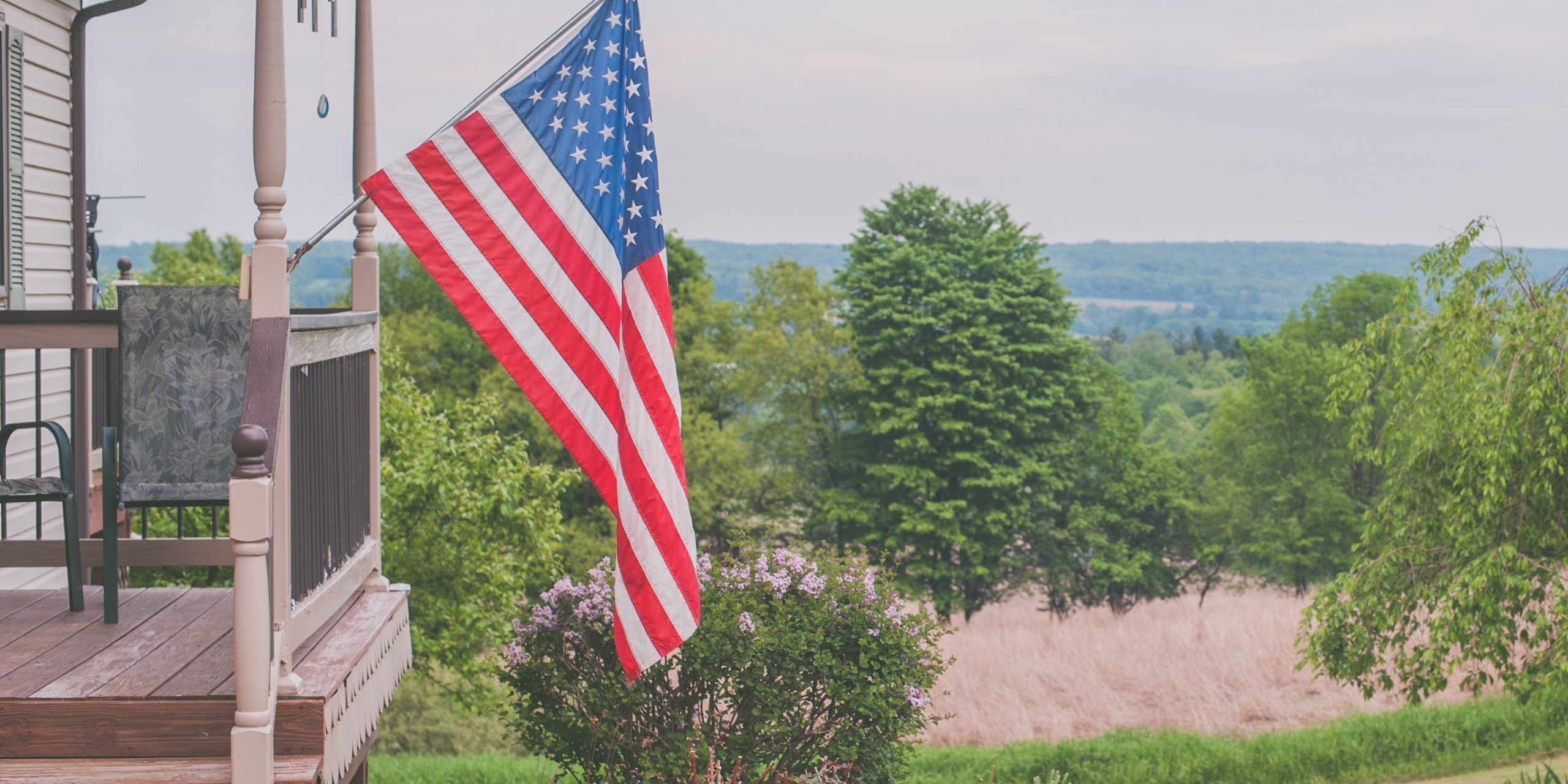Home with American Flag